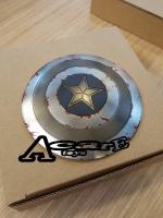 Carve Art Captain America Shield CA001D (Chrome Battle Damage Version)