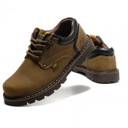 [มีหลายสี] รองเท้าหนัง CAT-CATERPILLAR รองเท้าผู้ชาย รองเท้า CAT หุ้มส้น