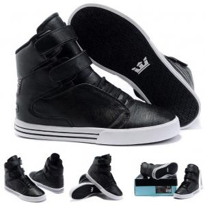 รองเท้าผ้าใบหุ้มข้อ วัสดุหนังแท้ ทรงฮิปฮอป สีดำ ผูกเชือก สายคาดหน้า 2 เส้นติดเทป สวย เท่ แฟชั่นสไตล์เกาหลี