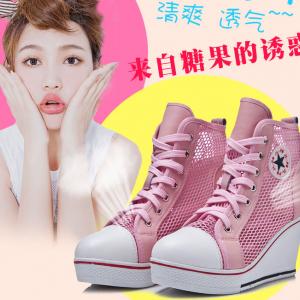 [มีหลายสี] รองเท้าหนังpu ส้นสูง หุ้มข้อ หนังตาข่ายระบายอากาศ ทรงสวยใส่สบาย แฟชั่นสไตล์เกาหลี