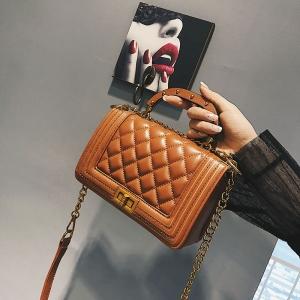 [มีหลายสี] กระเป๋าถือ+สะพาย แฟชั่นหนัง pu ทรงสี่เหลี่ยม สวยหรูดูแพง