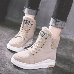 [มีหลายสี] รองเท้าผ้าใบกันหนาว รองเท้าขนสัตว์ หนังนิ่ม ทรงมาร์ติน พื้นหนาเล็กน้อย สวยน่ารัก สไตล์เกาหลี