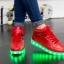 รองเท้ามีไฟ รองเท้า LED หุ้มข้อ สีแดง เปลี่ยนสีได้ 11 สี สินค้าพรีออเดอร์ thumbnail 5