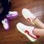 รองเท้ามีไฟ รองเท้า LED สีขาว มีแถบสีแดง เปลี่ยนสีได้ 11 สี สินค้าพรีออเดอร์ thumbnail 4