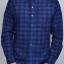 เสื้อลายสก๊อต ผู้ชาย สีน้ำเงิน SUPER SCOTT thumbnail 2