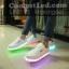 รองเท้ามีไฟ รองเท้า LED เปลี่ยนสีได้ 8 สี thumbnail 2