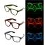 แว่นมีไฟ แสงนีออน กระพริบ 3 โหมด แว่น EL Wire thumbnail 3