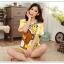 ชุดนอนแขนสั้นน่ารัก ลายหมีริลัคคุมะ สีเหลือง thumbnail 1