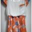 *SALE ลดราคาต่ำกว่าทุน* PP111 เดรสลายสีส้มน่ารักๆค่ะ กระโปรงอัดพลีท thumbnail 2