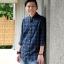 เสื้อเชิ้ตลายสก๊อตผู้ชายสีเขียว ผ้านำเข้าจากญี่ปุ่น thumbnail 5