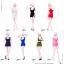 Manmodel MM09 Female Low-cut u collar mini dress thumbnail 1