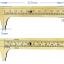 R08 เวอเนียร์ทอง 100 mm เหลือง ยี่ห้อ HUNTER แท้ Made in Germany thumbnail 2