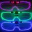 แว่นตามีไฟ LED กระพริบ 3 โหมด กรอบแว่นเป็นพลาสติกใส thumbnail 1