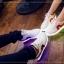 รองเท้ามีไฟ รองเท้า LED สีขาว มีแถบสีแดง เปลี่ยนสีได้ 11 สี สินค้าพรีออเดอร์ thumbnail 8