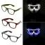แว่นมีไฟ แสงนีออน กระพริบ 3 โหมด แว่น EL Wire thumbnail 2