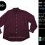 C2475 เสื้อเชิ้ตลายสก๊อตผู้ชายสีแดงม่วง ไซส์ใหญ่ thumbnail 1