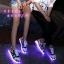รองเท้ามีไฟ รองเท้า LED สีขาวน้ำเงินแดง มีลายรูปดาว เปลี่ยนสีได้ 11 สี สินค้าพรีออเดอร์ thumbnail 4