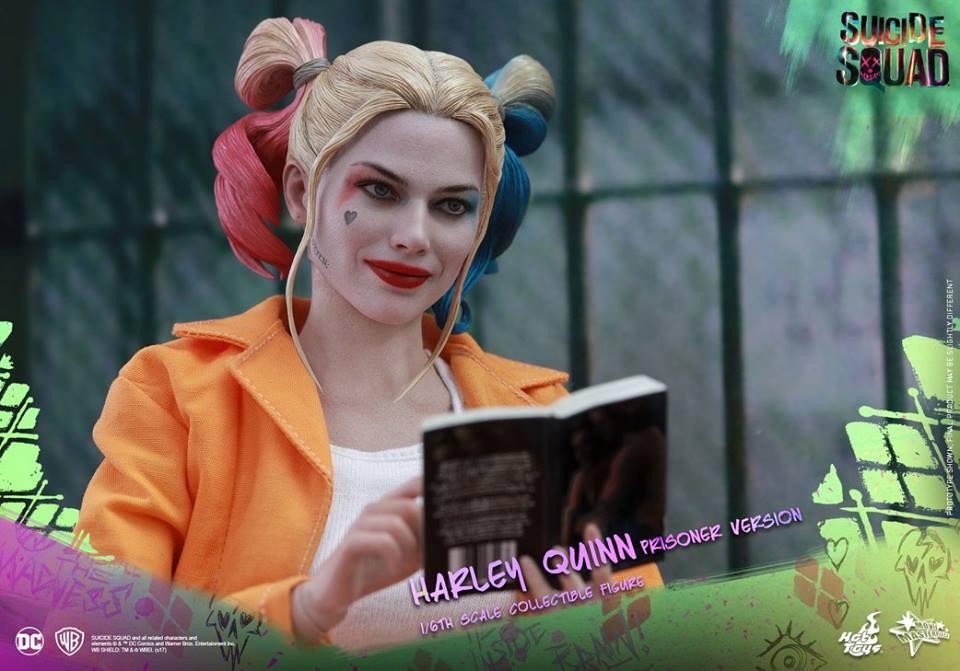 Figure White Tank Top Hot Toys 1:6 MMS407 Harley Quinn Prisoner  Ver