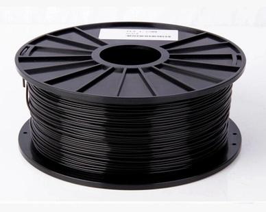 เส้นวัสดุ PLA ม้วนละ 1 กิโลกรัม (สีดำ)