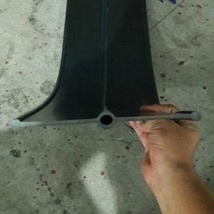 A6a PVC Waterstop 6 นิ้ว 3 ปุ่ม หนา 5 มม.(25 เมตร)