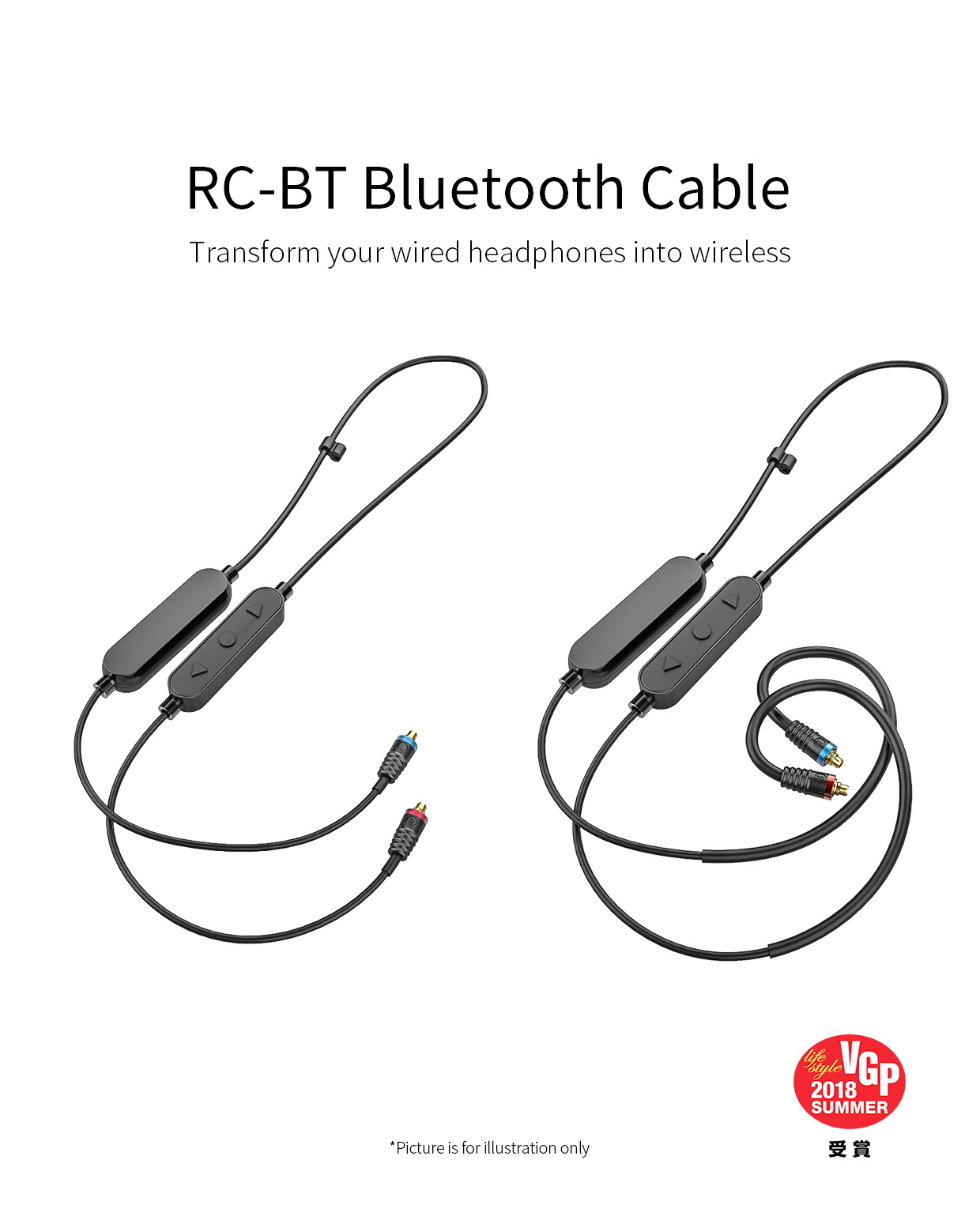 ขาย FiiO RC-BT สาย Bluetooth พร้อมไมค์ขั้ว MMCX รองรับ Aptx aac