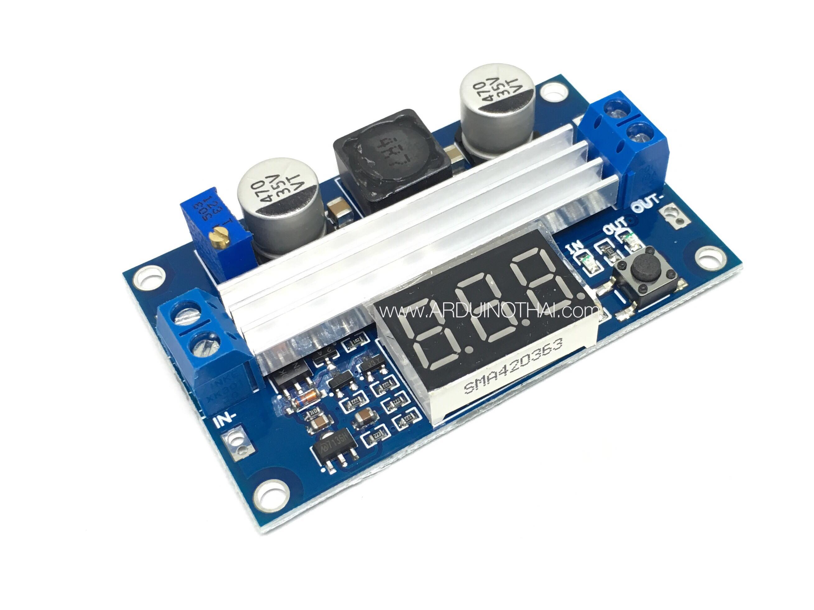 DC-DC Step up with Digital voltmeter 3.5-35V 100W