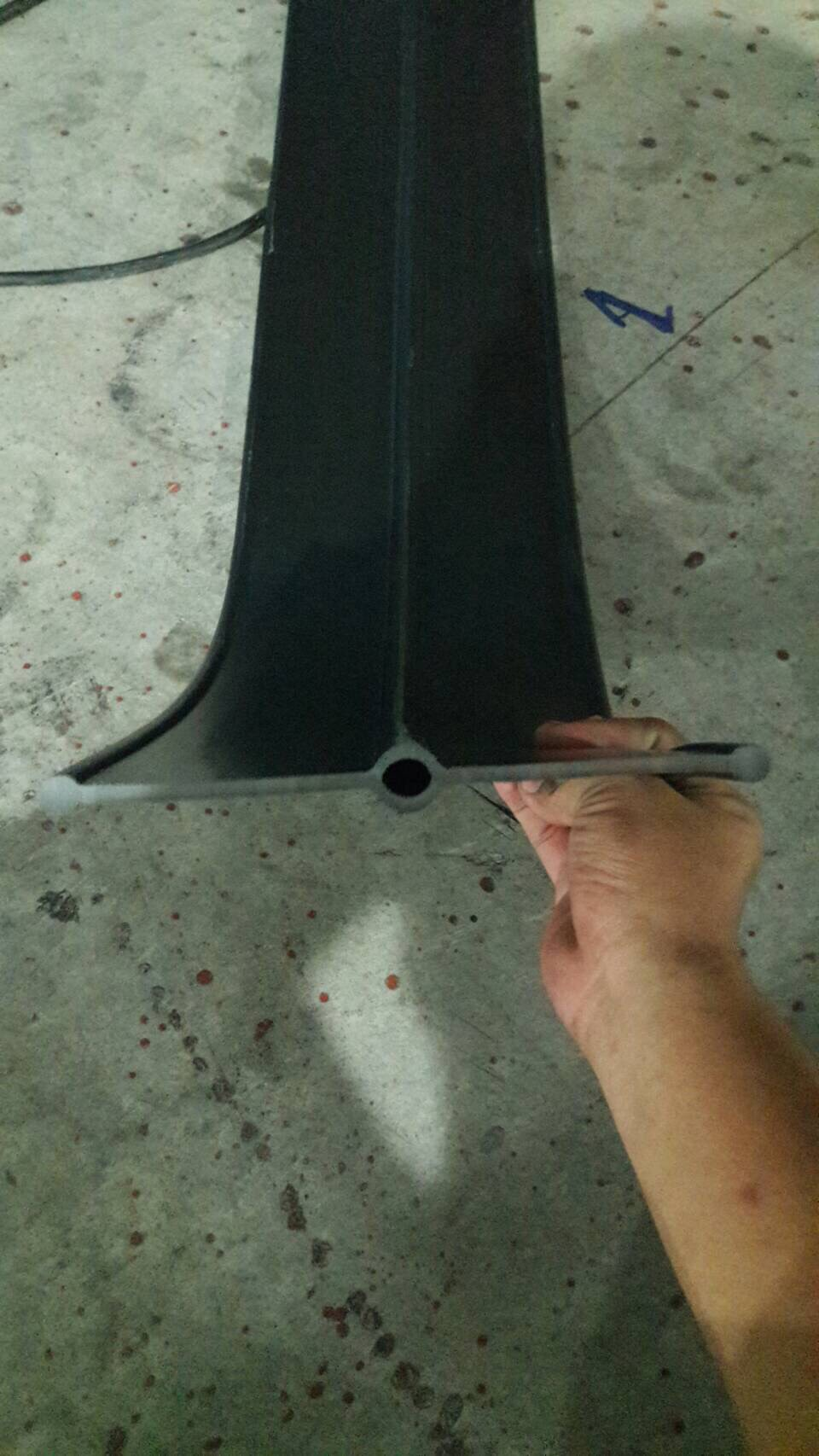 A8a-XL PVC Waterstop 8 นิ้ว 3 ปุ่ม หนา 5 มม. (30 เมตร)