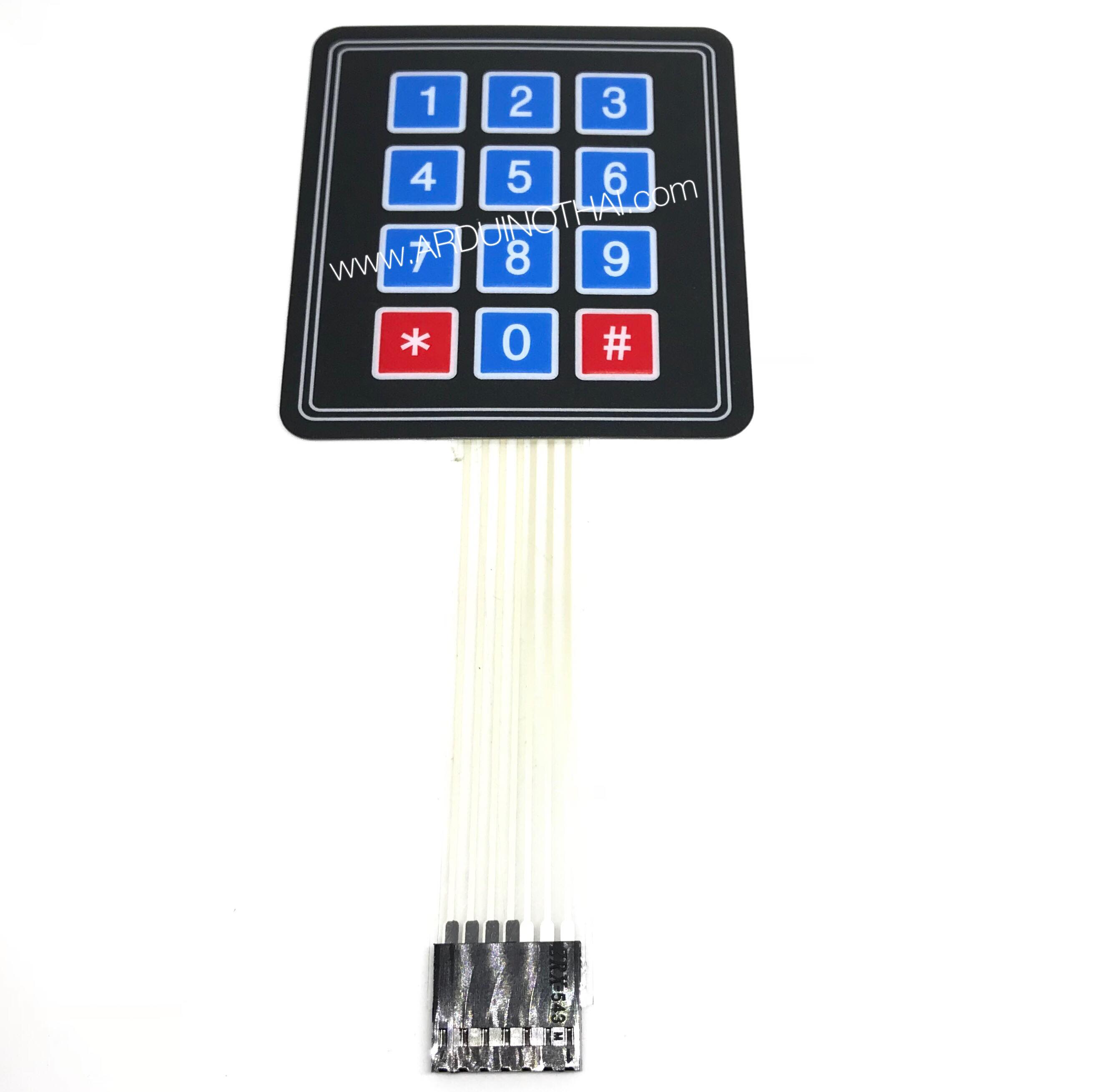 3x4 matrix keypad