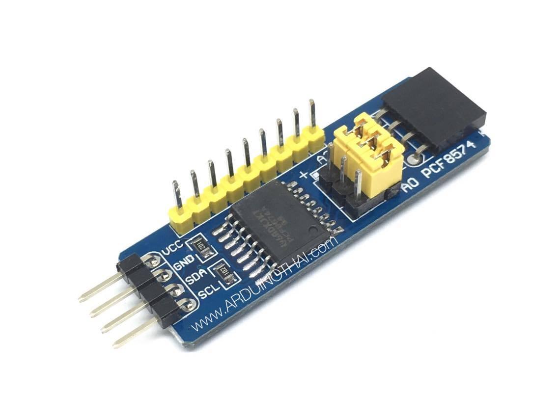 โมดูลเพิ่มขา I/O แบบ I2C ใช้ชิป PCF8574AT