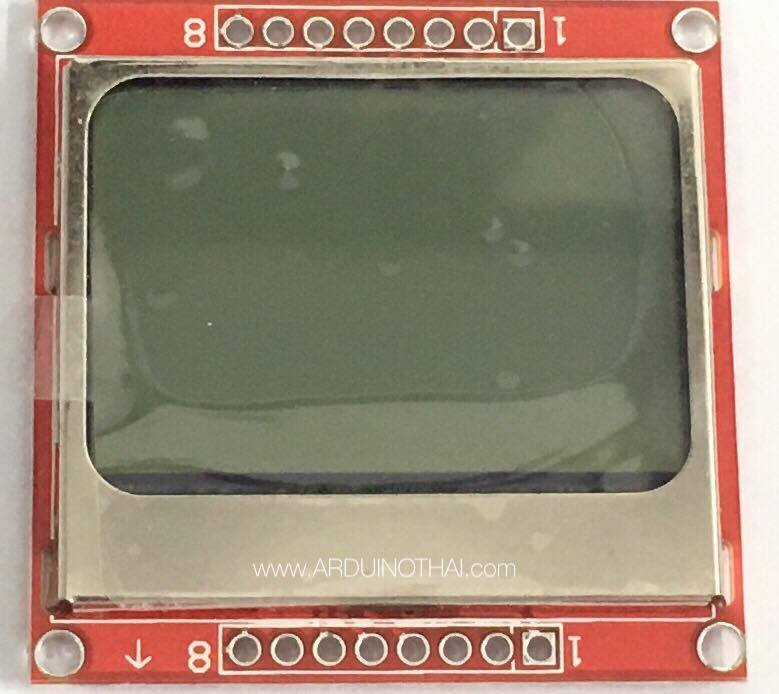 Red Nokia 5110 LCD Module