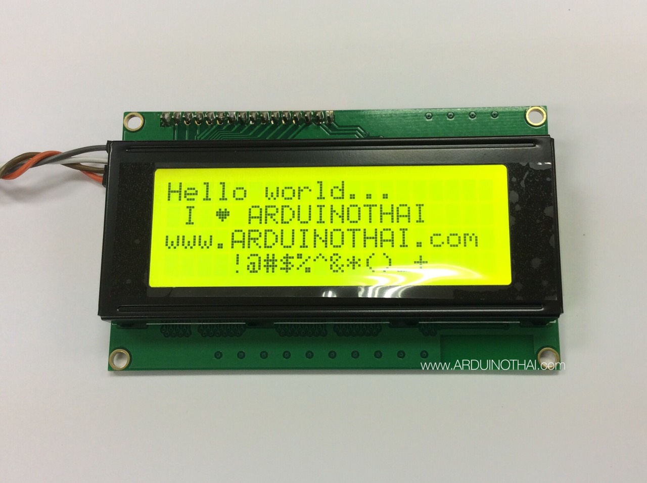2004 LCD With I2C Interface (Yellow Screen)