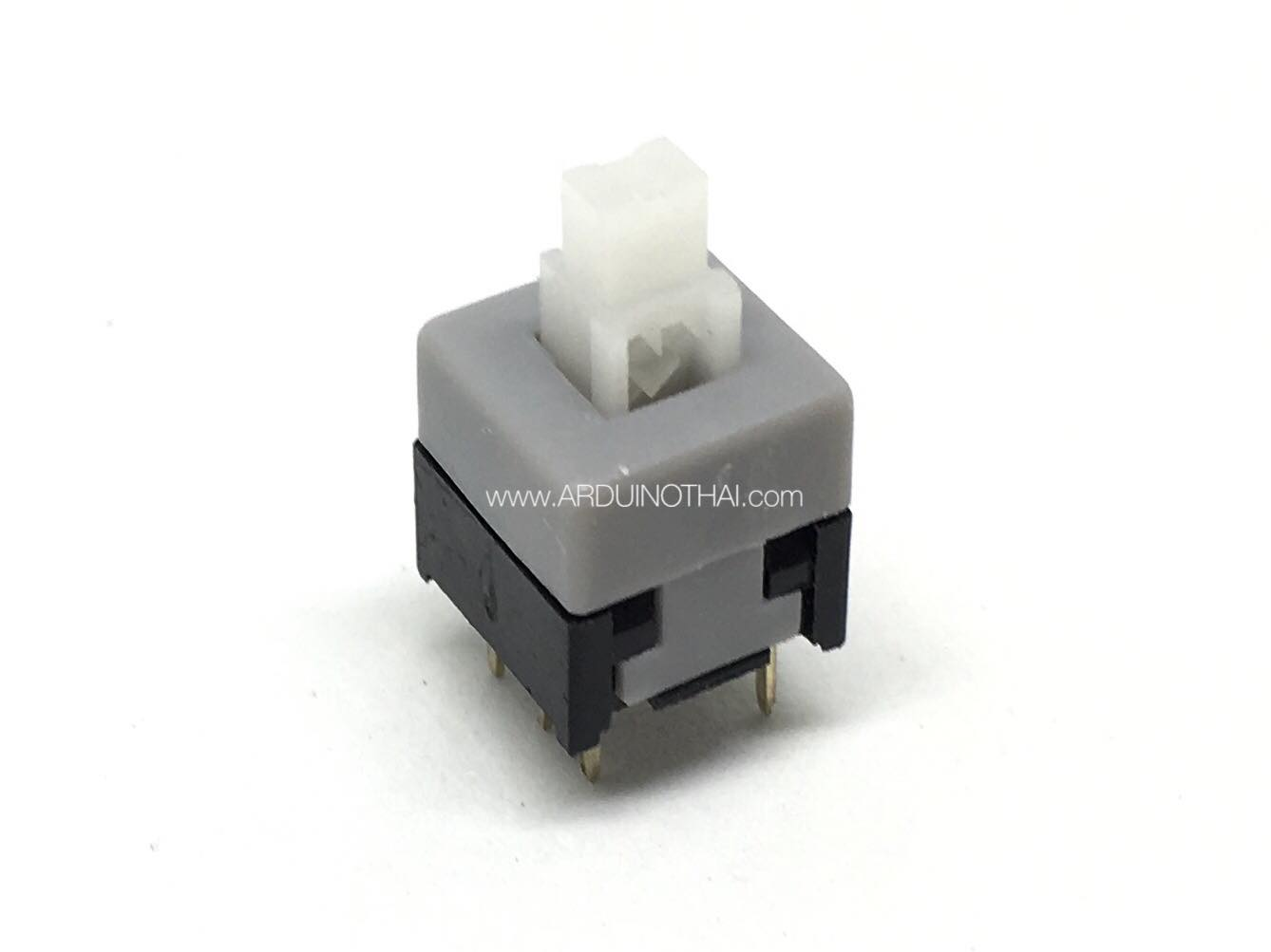 8X8mm Gray Cap Self-locking Type Square Button Switch