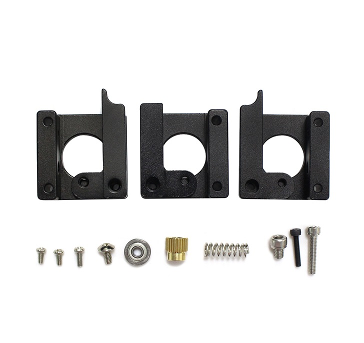 MK8 Extruded Aluminum Block Single Spray Head mk8 Extruder Mounting Block Pure Black Edition