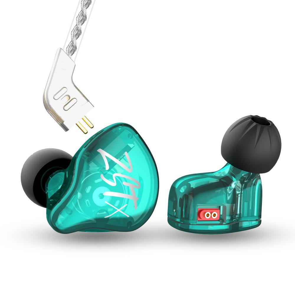 ขาย KZ ZST X หูฟัง 2 ไดร์เวอร์ 1DD+1BA สายชุบเงินถัก100แกน