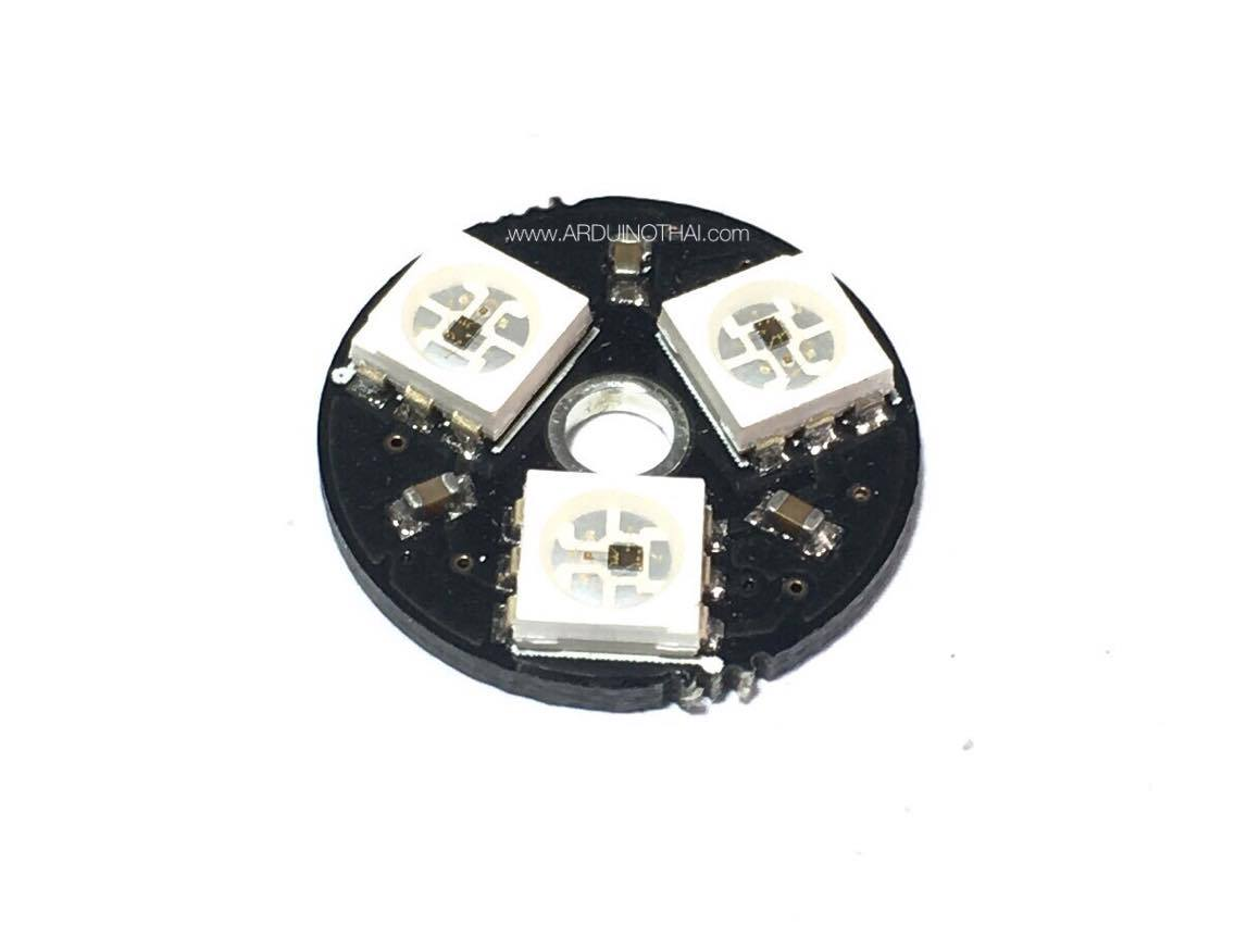 3xWS2812 5050 RGB LED RING(วงแหวน RGB LED 3ดวง)