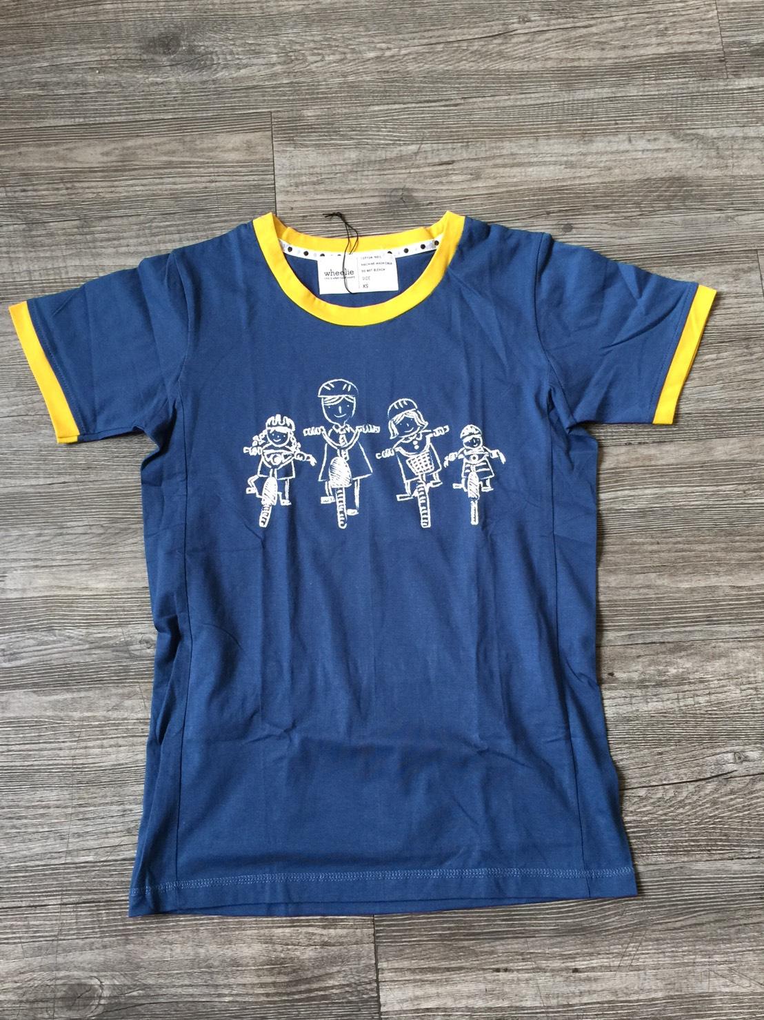 W Family bike Dark blue 'Yellow Border XS