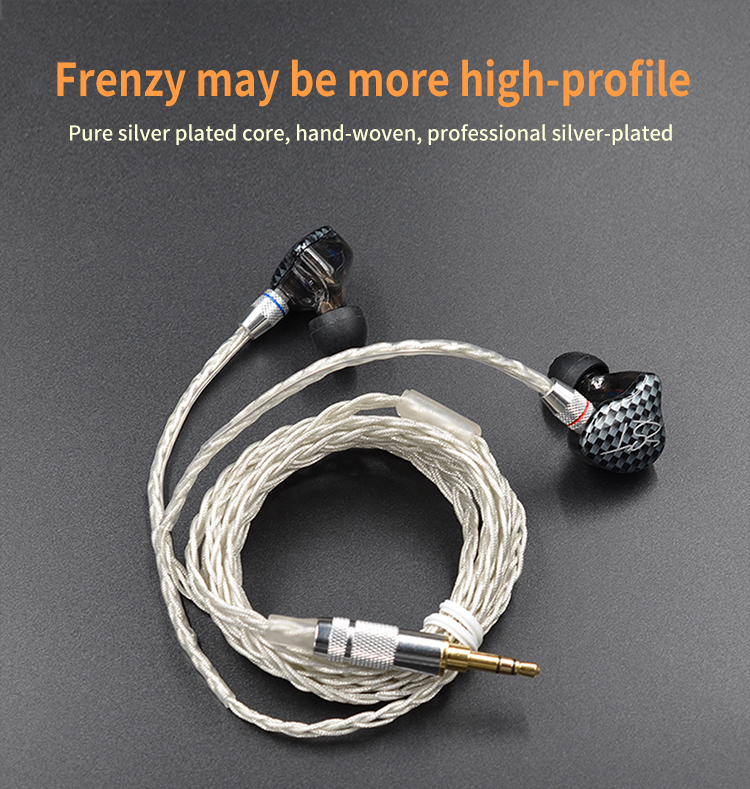 ขาย KZ Premium สายชุบเงินเกรดพรีเมี่ยม สำหรับหูฟัง KZ ZST / ED12 / TFZ Exclusive 1 3 5