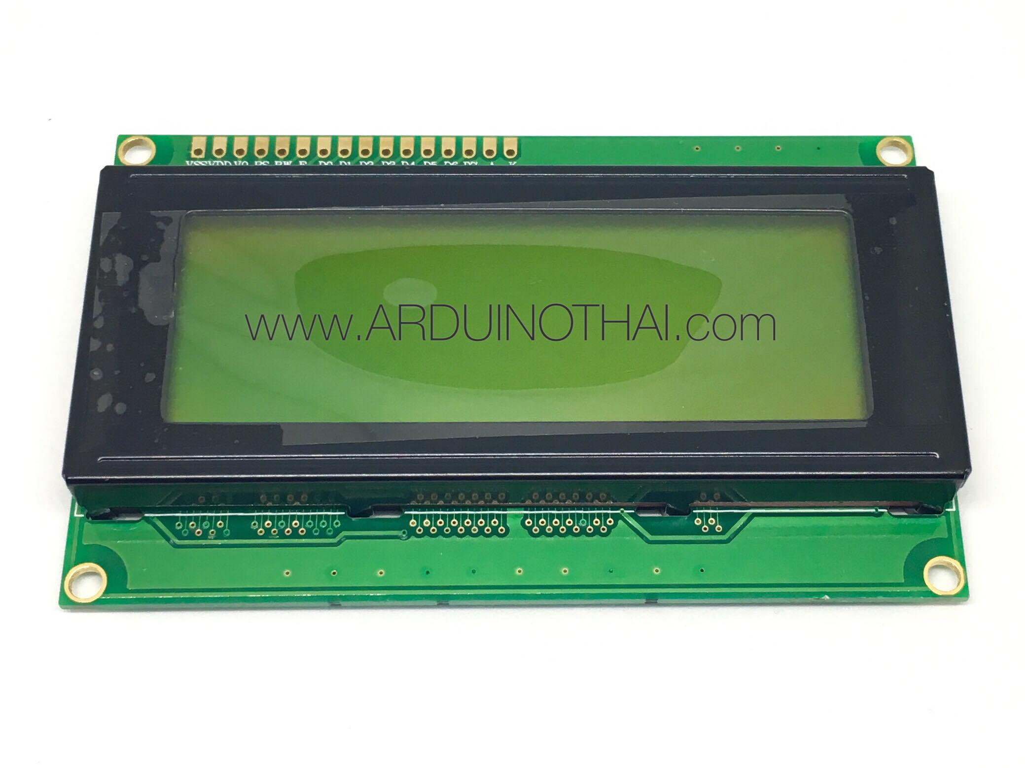 20X4 Character LCD Module Display (Yellow Backlight)