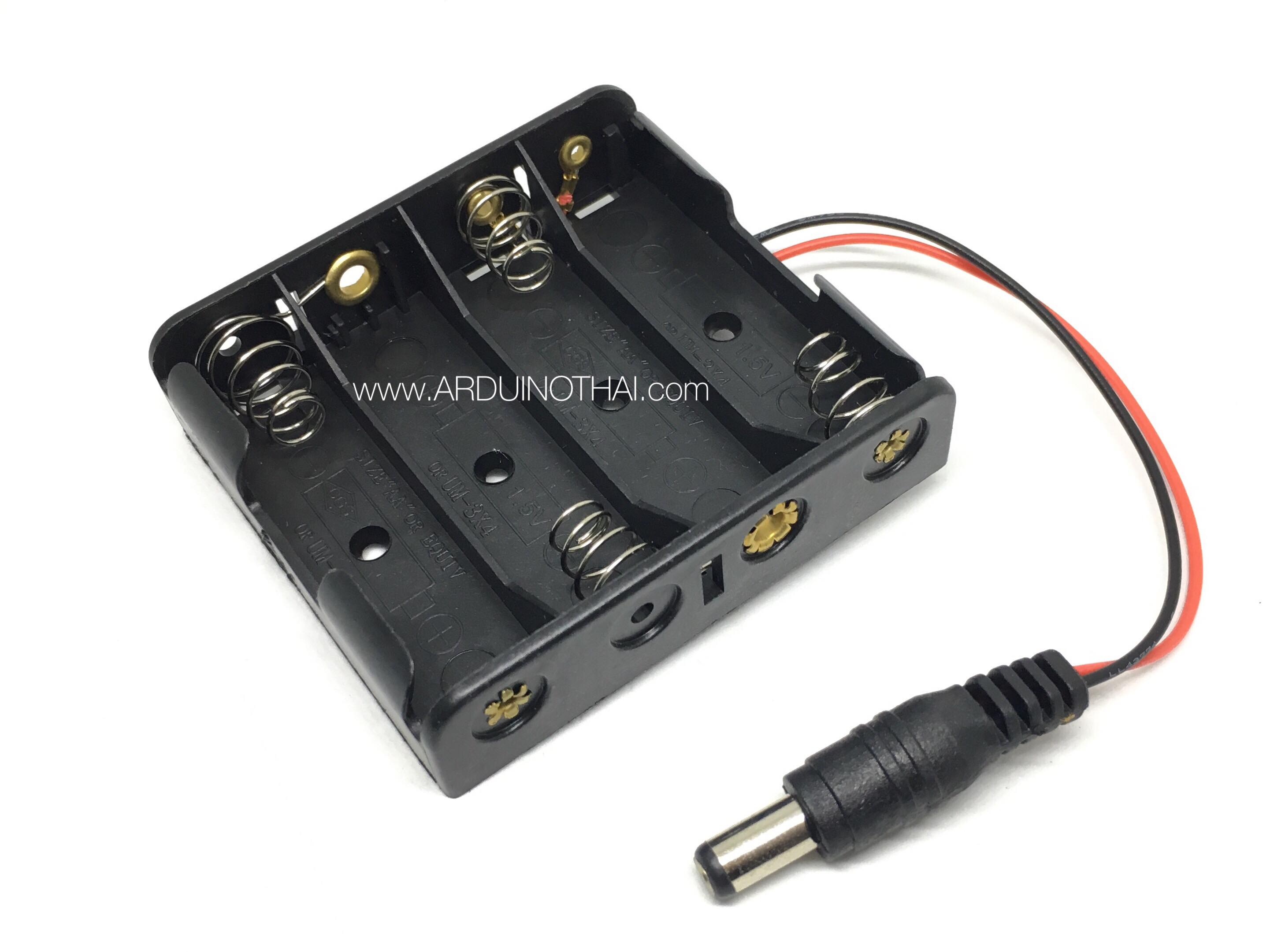 รางถ่าน AA 4ก้อนพร้อมPower Connector