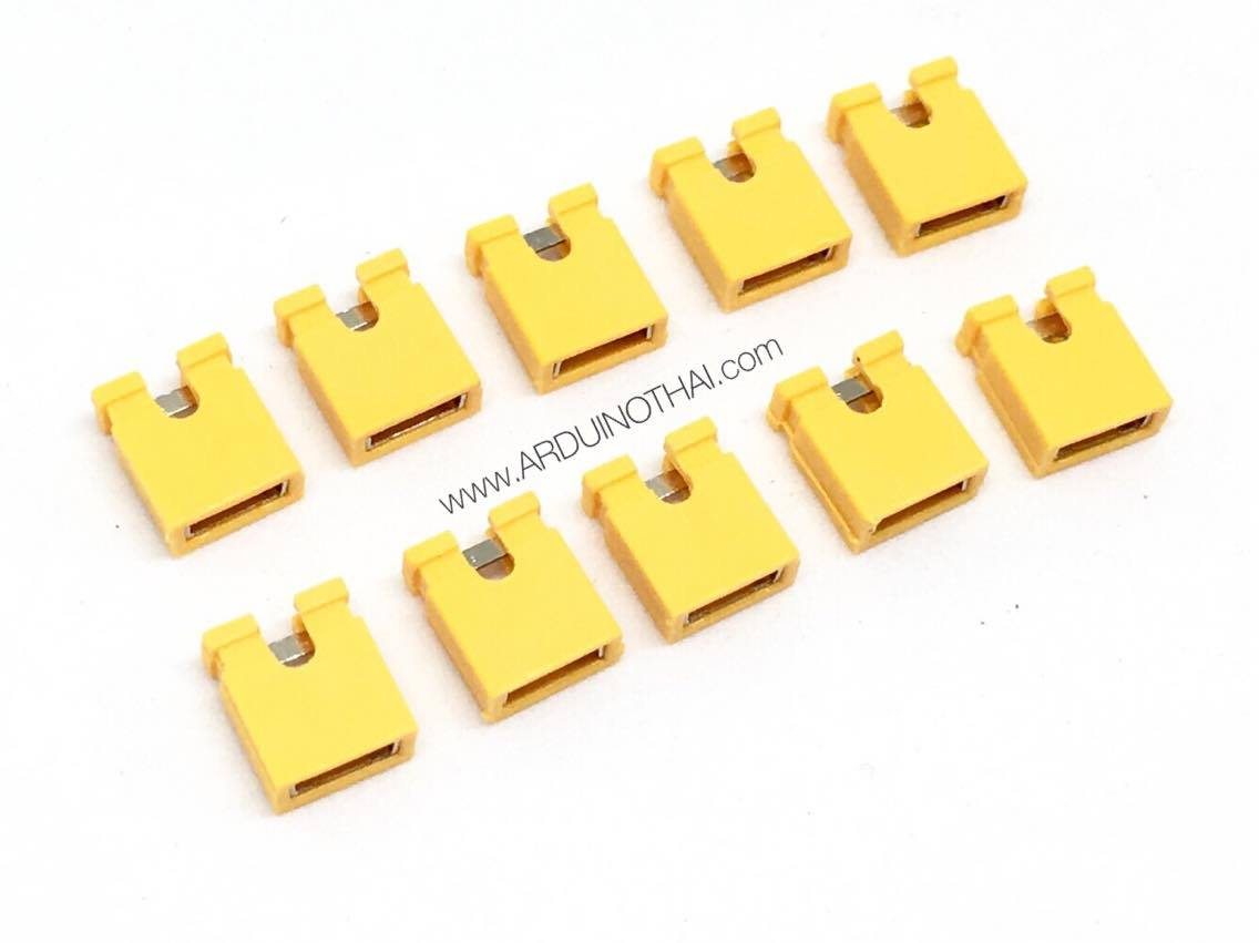 Jumper cap 2 Pins Female Pitch 2.54mm (Yellow)