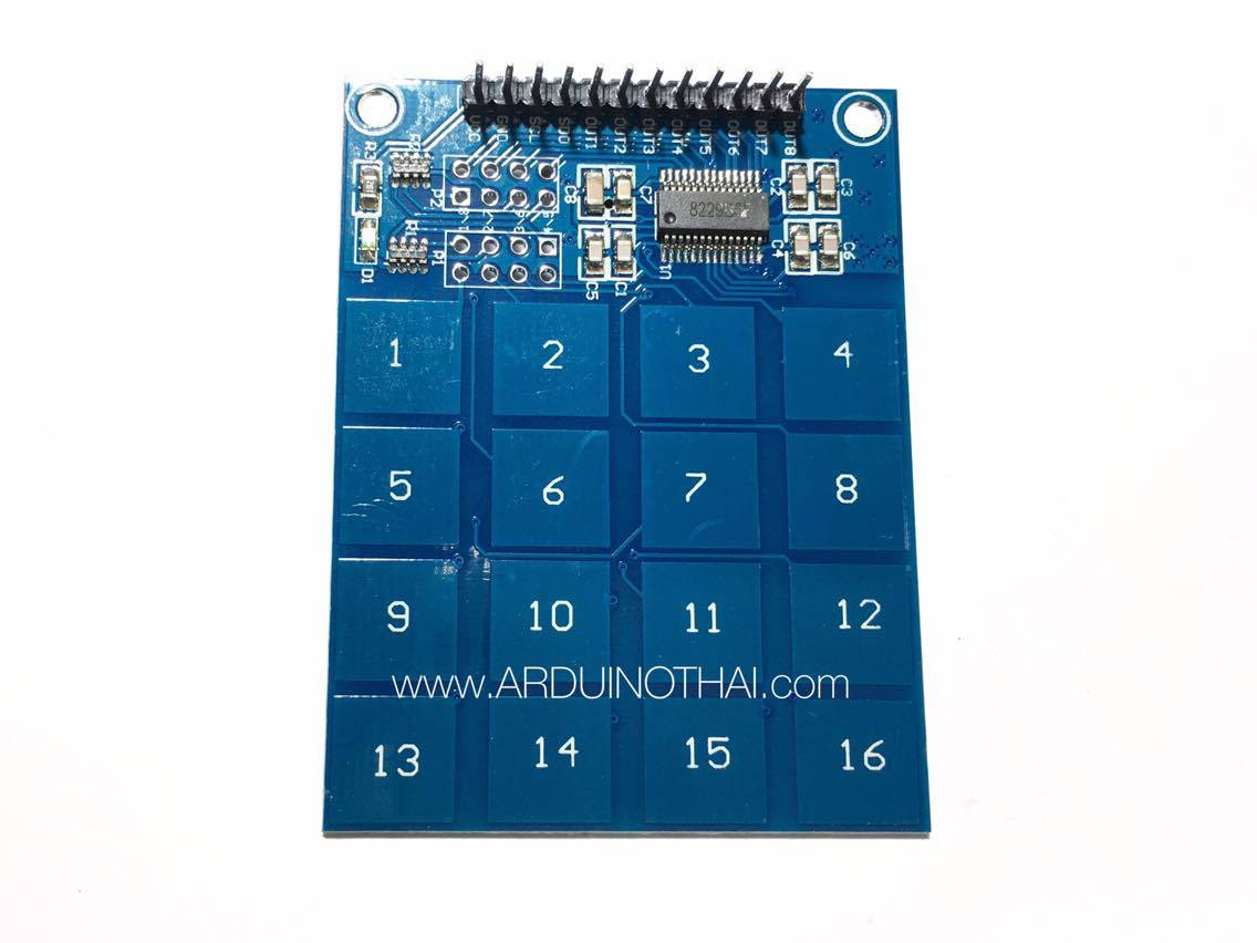 16-way capacitive touch switch (สวิตช์สัมผัส TTP229)