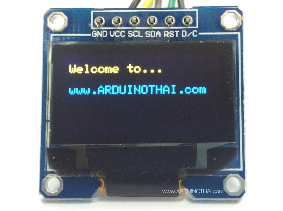 "OLED Display Module Yellow/Blue (SPI 128X64 pixels 0.96"")"