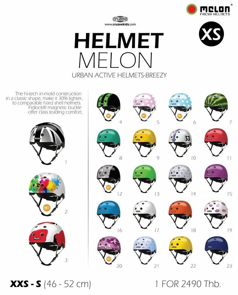 Helmet-หมวกกันน็อค Melon Size S
