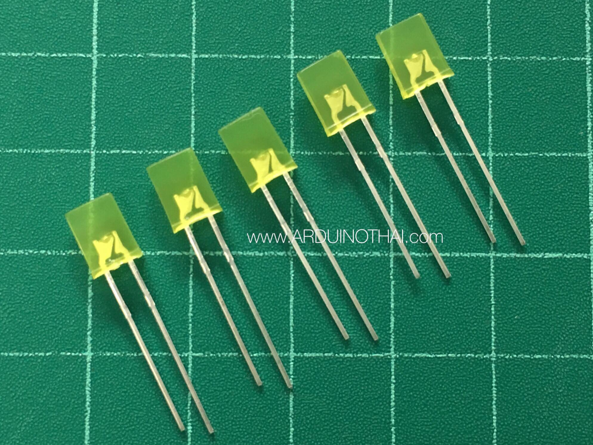 2x5x7 Square Yellow LED (เปลี่ยนเป็นสีส้ม)