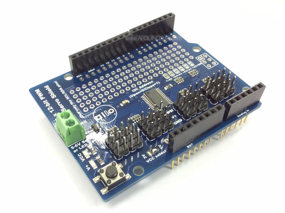 16 Channel 12-bit PWM/Servo Shield