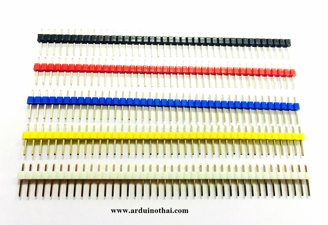Pin Header Dip Straight Single Row 1X40PIN (ก้างปลา)