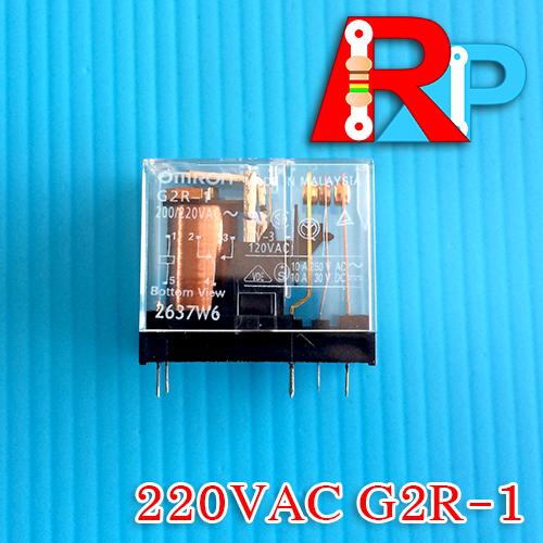 รีเลย์ Omron รุ่น G2R-1 200/220VAC