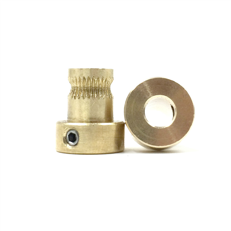 Copper Gear Wheel Extruder Pulley 5mm