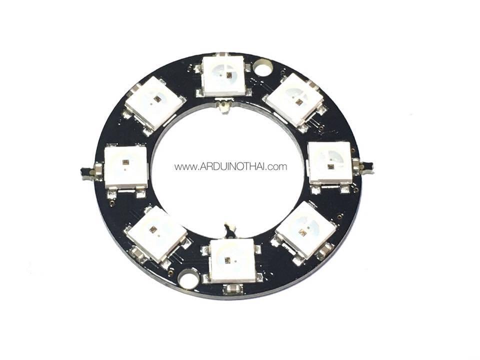 8xWS2812 5050 RGB LED RING(วงแหวน RGB LED 8ดวง)