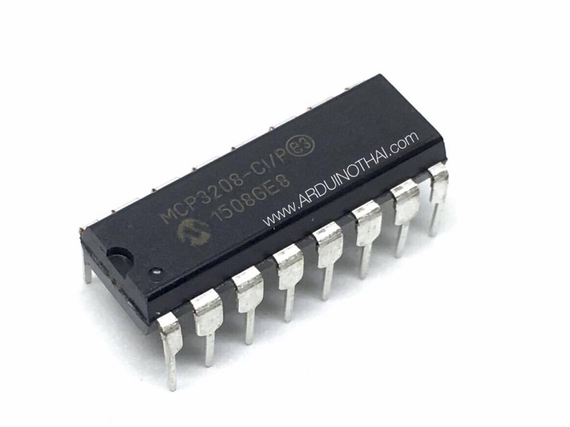 MCP3208-CI DIP16 (ADC) ชิปแปลง Analog to Digital